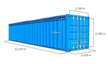 Размеры и вес морских контейнеров